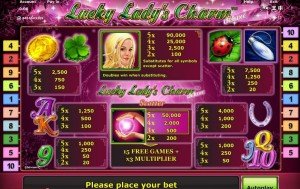 lucky ladys charm slots online spielen