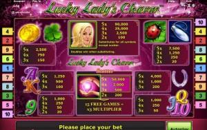 lucky ladys charm slots online spielen